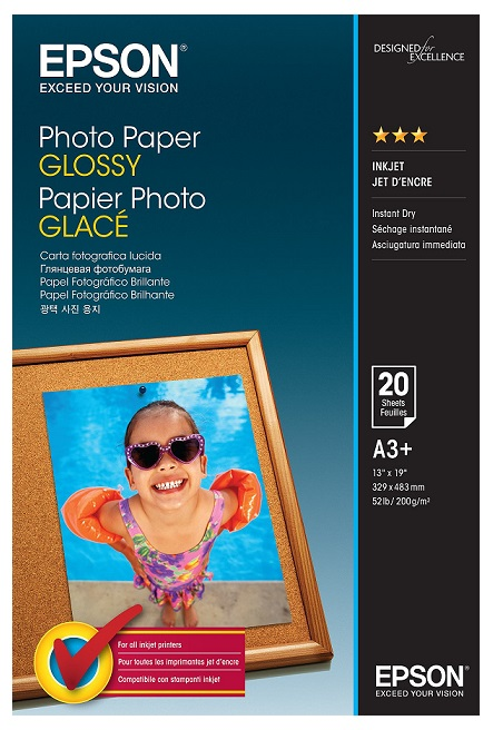 Epson S042535 Glossy A3+ 200gsm Photo Paper - 20 sheets