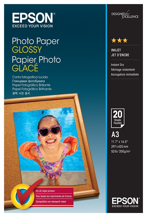 Epson S042536 Glossy A3 200gsm Photo Paper - 20 sheets