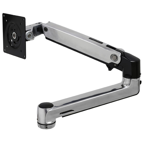 Ergotron LX Arm Extension and Collar Kit for 19-32 Inch 2.3-11.3kg Flat Panel TVs or Monitors - Silver