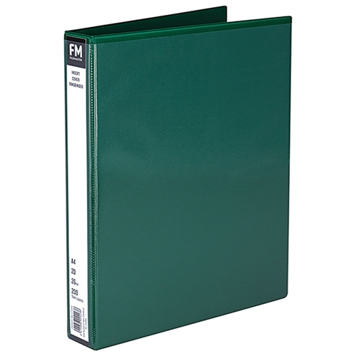 File Master A4 PVC Insert Cover 2/26 Ring Binder - Green
