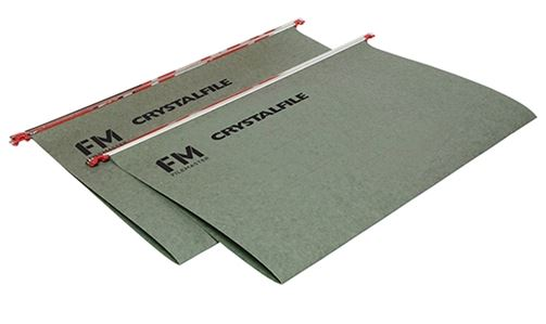 File Master Crystalfile A4 Green Suspension Files - 50 Pack