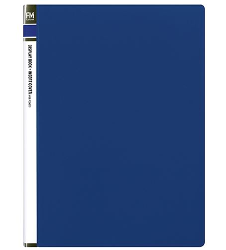 File Master 60 Pocket A4 Display Book with Insert Cover - Blue