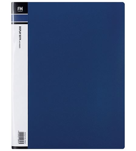 File Master 40 Pocket A4 Display Book - Blue
