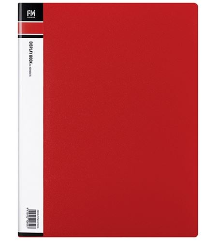 File Master 40 Pocket A4 Display Book - Red