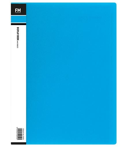 File Master 40 Pocket A4 Vivid Display Book - Blue