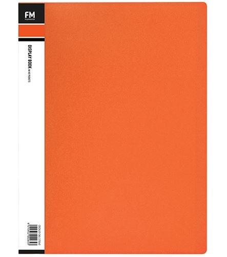 File Master 40 Pocket A4 Vivid Display Book - Orange