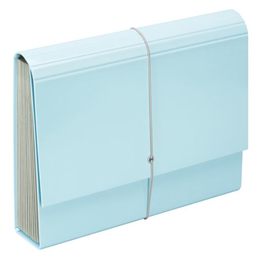 File Master Pastel 13 Pocket Expanding File - Blue