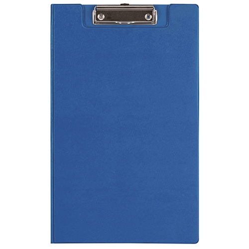 File Master PVC Foolscap Clipboard with Flap - Blue