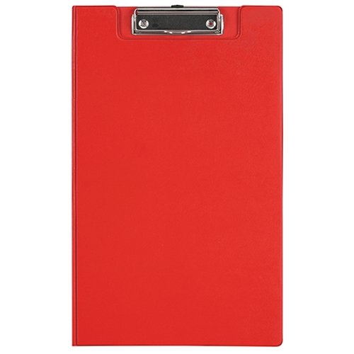 File Master PVC Foolscap Clipboard with Flap - Red