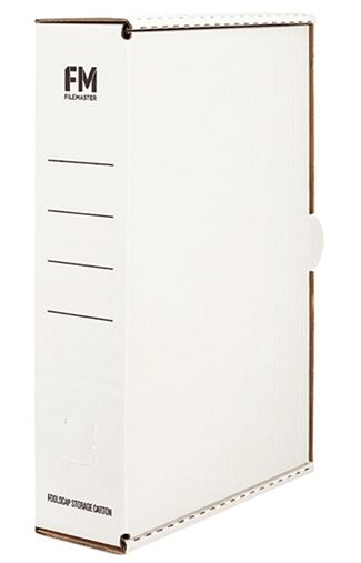 File Master Foolscap Storage Box Carton White - 5 Pack