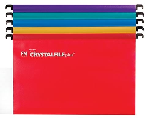 File Master PolyProp Crystalfile Suspension File Assorted Colours 10 Pack