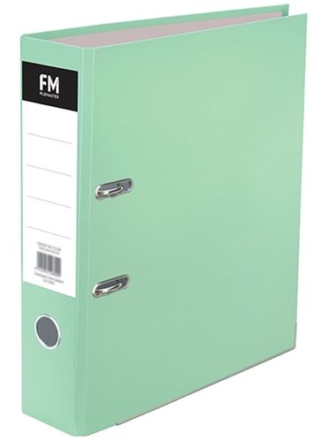 File Master A4 Pastel Lever Arch File Mint Green