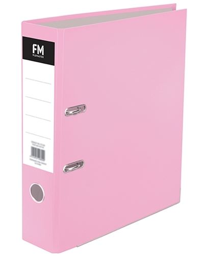 File Master A4 Pastel Lever Arch File Pink