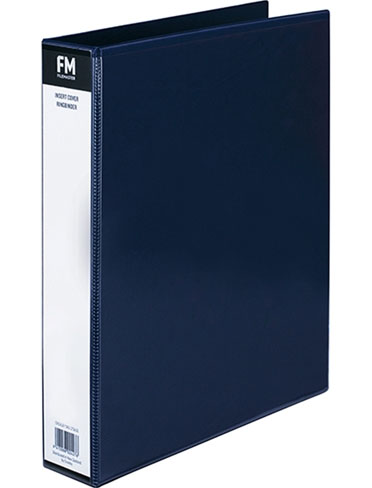File Master A4 PVC Insert Cover 3/26 Ring Binder Blue