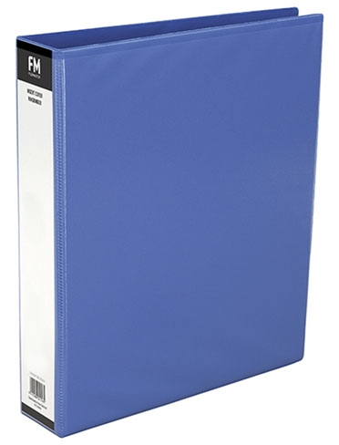 File Master A5 PVC 2/26 Insertable Ring Binder Light Blue