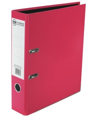 File Master A4 Vivid Lever Arch File Pink