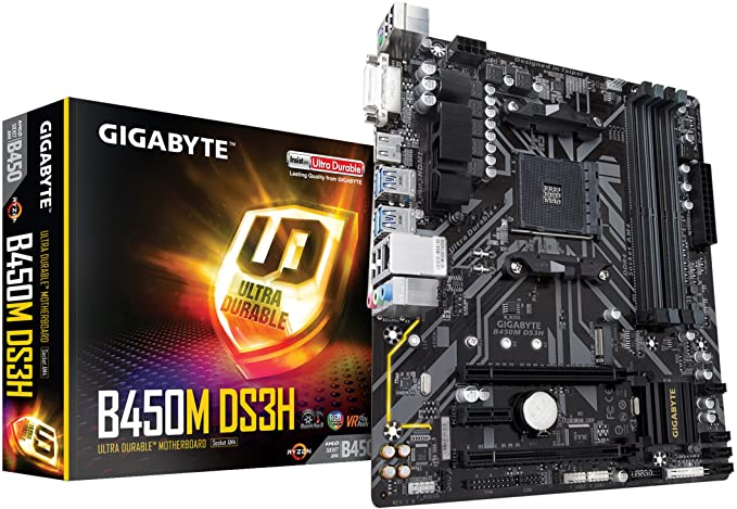 Gigabyte DS3H Ultra Durable AMD AM4 B450 Micro ATX Gaming Motherboard
