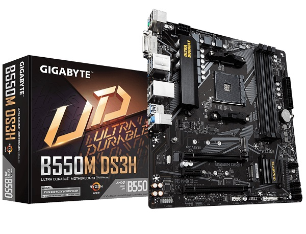 Gigabyte DS3H Ultra Durable AMD AM4 B550 Micro ATX Gaming Motherboard
