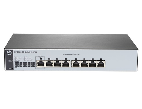 HP 1820-8G 8 Port Web Managed Gigabit Ethernet Switch