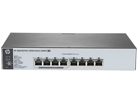 HP 1820-8G-PoE+ 65W 8-Port Gigabit Web Managed Ethernet Switch
