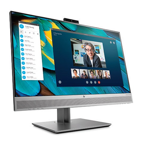 HP EliteDisplay E243m 23.8 Inch 1920 x 1080 IPS Monitor with USB Hub & Webcam - DisplayPort VGA HDMI