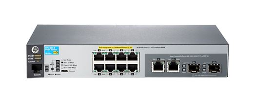 HP 2530-8-PoE+ 8 x RJ45 Manageable POE Ethernet Switch