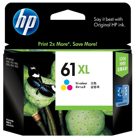 HP 61XL Tri-Color High Yield Ink Cartridge