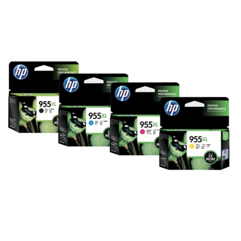 HP 955XL Office Value Pack - Black, Cyan, Magenta, Yellow, 4x6 Cards