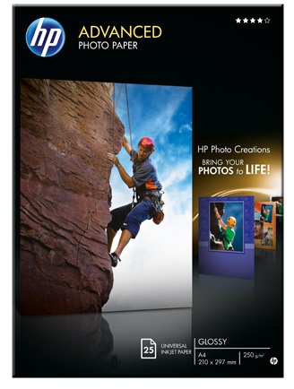 HP Q5456A Glossy Advanced A4 250gsm Photo Paper - 25 sheets