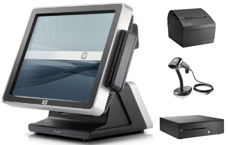 HP AP5000 POS Terminal With Windows 7 Professional + Receipt Printer, Barcode Scanner & Cash Drawer