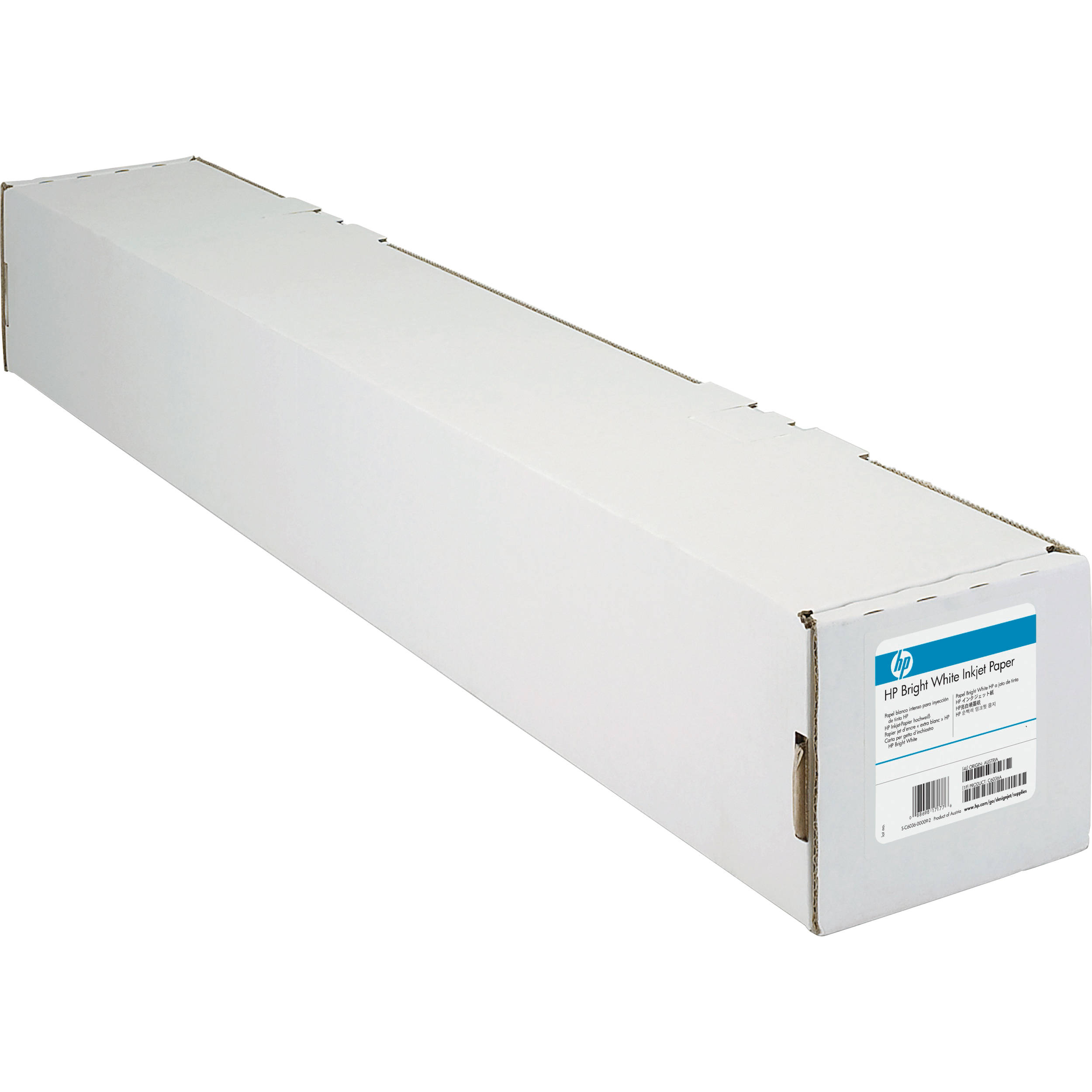 HP Bright White 90gsm Matte 914mm x 91.4m Paper Roll