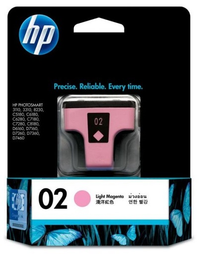 HP 02 Light Magenta Ink Cartridge