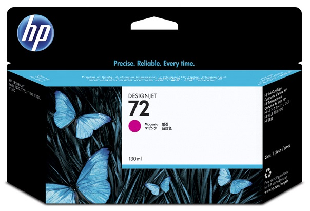 HP 72 Magenta 130ml Ink Tank Cartridge