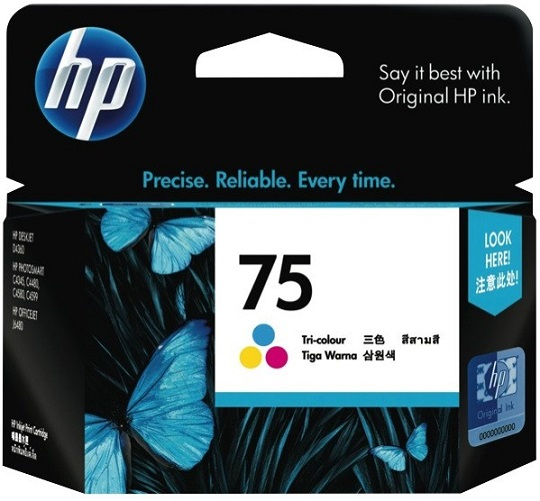 HP 75 Tri-Colour Ink Cartridge