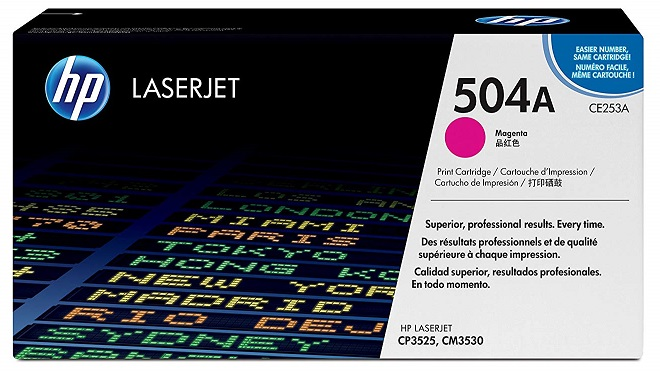 HP 504A Magenta Toner Cartridge