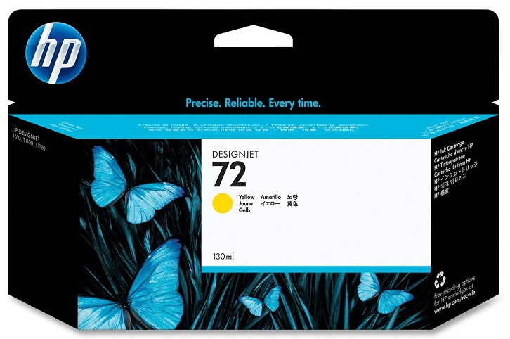 HP 72 Yellow Ink Cartridge 130ml