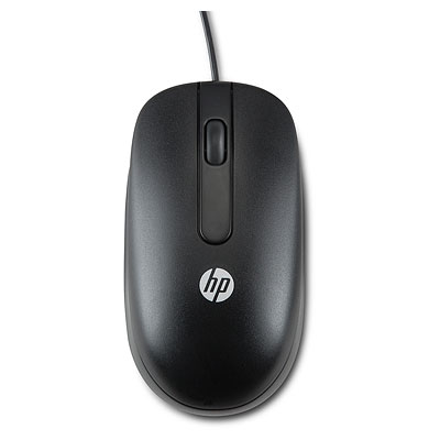 HP Optical Cable 3 Buttons PS/2 800dpi Scroll Wheel Symmetrical Mouse
