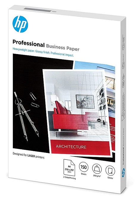 HP 7MV83A Professional Glossy A4 200gsm Laser Business Paper - 150 Sheets