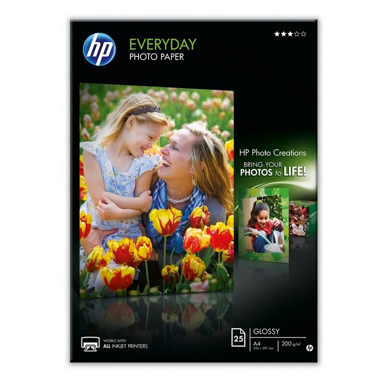 HP Q5451A Glossy Everyday A4 200gsm Photo Paper - 25 sheets
