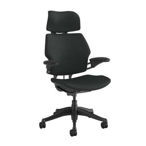 Humanscale Freedom Fabric Office Chair with Headrest & Arm Rests - Graphite