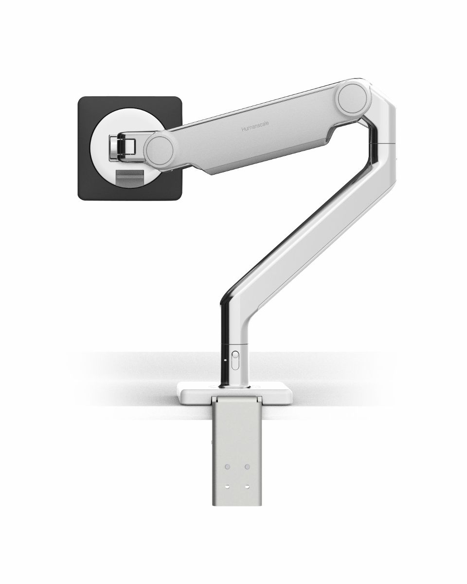 HumanScale M2.1 Single Monitor Arm Clamp - White