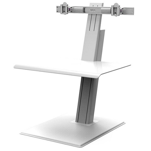 HumanScale Quickstand Eco Dual Monitor Sit-Stand Workstation - White