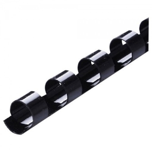 Icon 19mm Plastic Binding Coil Black - 100 Pack