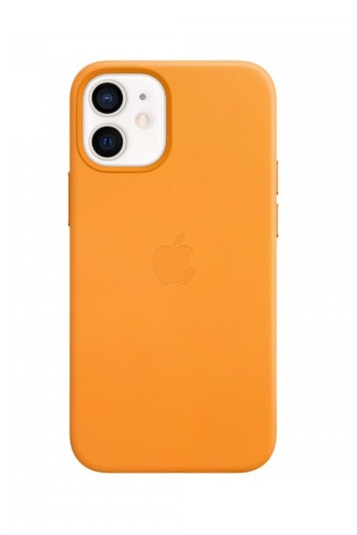 Apple Leather MagSafe Case for iPhone 12 Mini - California Poppy