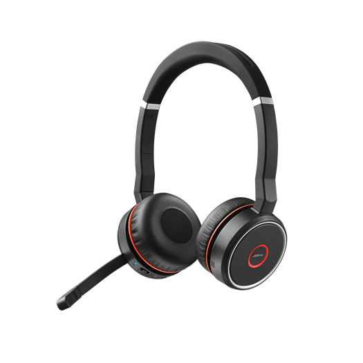 Jabra Evolve 75 MS Bluetooth Wireless Stereo Headset with Active Noise Cancelling - Optimised for Microsoft Skype for Business
