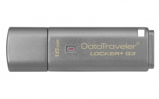 Kingston DataTraveler Locker+ G3 16GB USB 3.0 Flash Drive - Silver