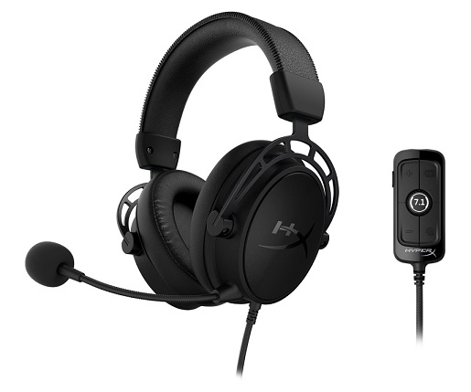 Kingston HyperX Cloud Alpha S USB Over The Head Wired Stereo 7.1 Gaming Headset with Mic - Blackout