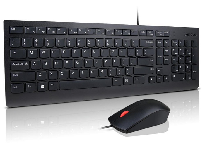 Lenovo Essential Wired Keyboard and Mouse Combo - Black