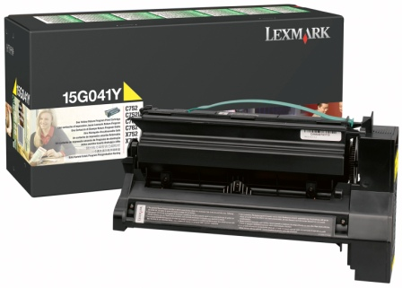 Lexmark 15G041Y Yellow Toner Cartridge