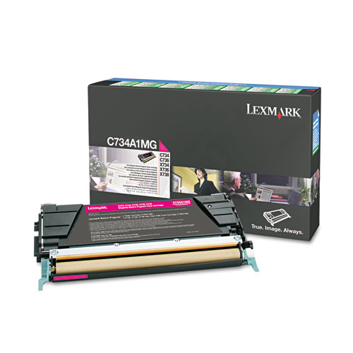 Lexmark C734A1MG Magenta Toner Cartridge